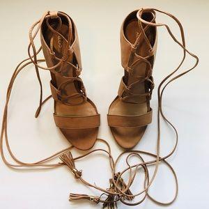Aldo Cream Strap Heels